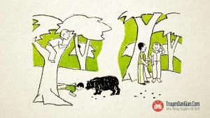 Câu chuyện hai người bạn và con gấu