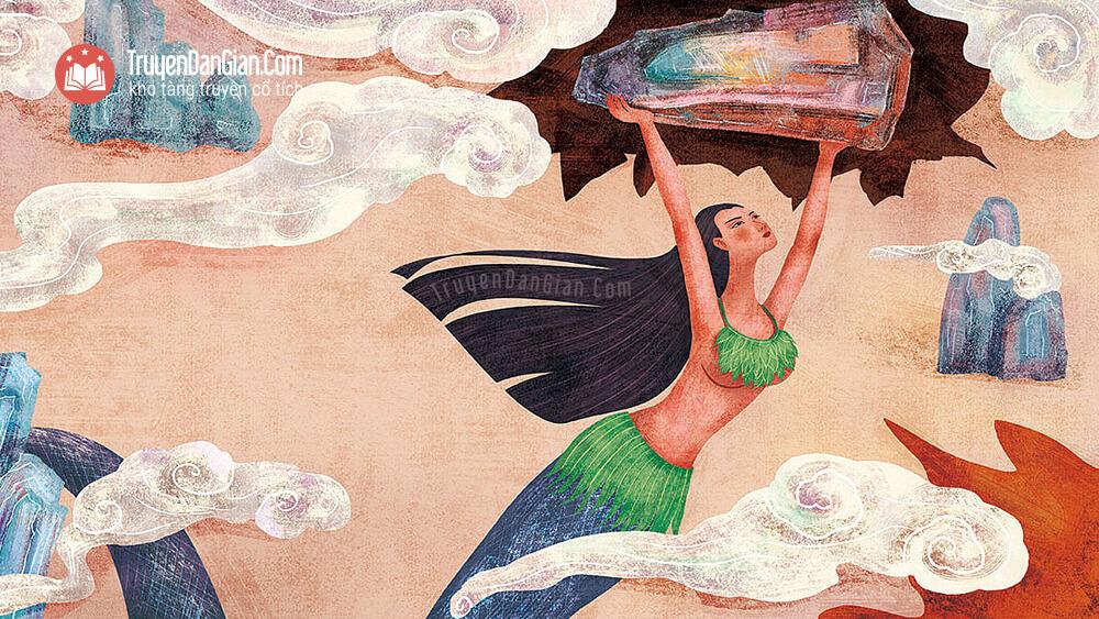 Nữ oa đội đá vá trời